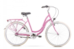 Dviratis Romet Angel 26 3 2020 pink-white Miesto dviračiai