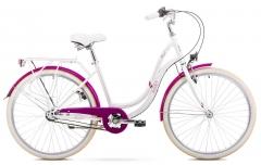 Dviratis Romet Angel 26 3 2020 white-pink Miesto dviračiai