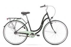 Dviratis Romet Angel 28 2019 black-green Miesto dviračiai