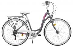 Dviratis Romet City Art Deco 1 D LTD 28 2021 graphite Miesto dviračiai