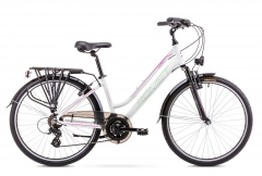 Velosipēds Romet Gazela 1 26 2019 white S(15) Touring (ATB) velosipēdi