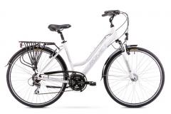 Dviratis Romet Gazela 2 2019 white S(17) Turistiniai (ATB) dviračiai