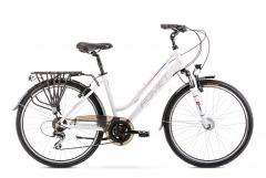 Dviratis Romet Gazela 26 2 2020 white-pink Touring bikes (atb)