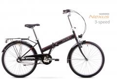 Dviratis Romet Jubilat 24 2 2019 black-red Folding bikes