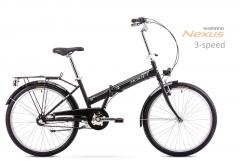 Dviratis Romet Jubilat 24 2 2019 black-white Folding bikes