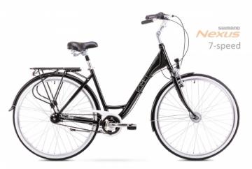 Dviratis Romet Moderne 7 2019 black M(17) Miesto dviračiai