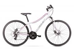 Dviratis Romet Orkan 1 D 2019 white L(19) Hybrid (cross) bikes