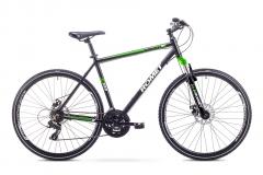 Dviratis Romet Orkan 1 M 2018 black-green 19 Hibridiniai (Cross) dviračiai
