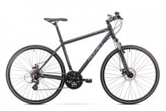 Dviratis Romet Orkan 1 M 2019 black-green Hibridiniai (Cross) dviračiai