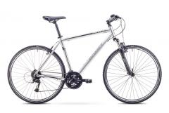 Dviratis Romet Orkan 2 M 2018 grey-black L(21) Hybrid (cross) bikes