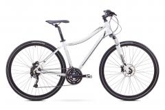 Velosipēds Romet Orkan 3 D 2017 white-black Hibrīdu (Cross) velosipēdi