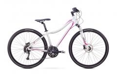 Velosipēds Romet Orkan 3 D 2017 white-pink Hibrīdu (Cross) velosipēdi