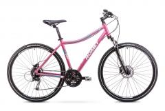 Velosipēds Romet Orkan 3 D 2018 pink Hibrīdu (Cross) velosipēdi