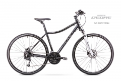 Velosipēds Romet Orkan 4 D 2019 black Hibrīdu (Cross) velosipēdi