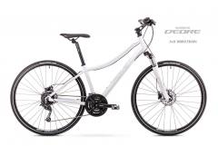 Velosipēds Romet Orkan 4 D 2019 white Hibrīdu (Cross) velosipēdi