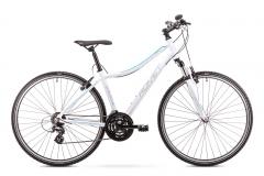 Velosipēds Romet Orkan D 2019 white M(17) Hibrīdu (Cross) velosipēdi