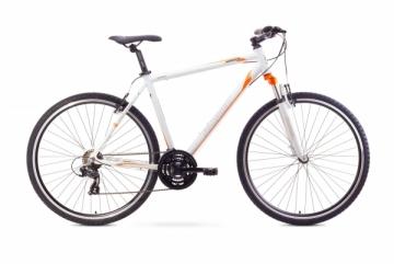 Dviratis Romet Orkan M 2017 white 19 Hibridiniai (Cross) dviračiai