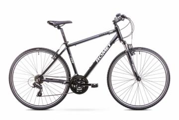 Dviratis Romet Orkan M 2018 black-grey 21 Hybrid (cross) bikes
