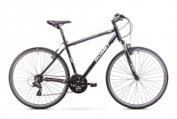 Velosipēds Romet Orkan M 2018 black-grey 21 Hibrīdu (Cross) velosipēdi