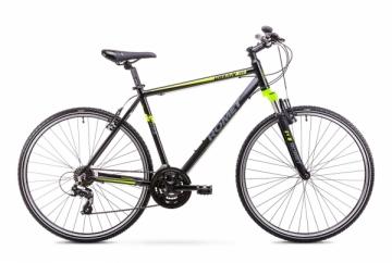 Dviratis Romet Orkan M 2018 black-yellow 19 Hibridiniai (Cross) dviračiai
