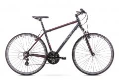 Dviratis Romet Orkan M 2019 black-red L(21) Hybrid (cross) bikes