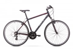 Dviratis Romet Orkan M 2019 black-red Hybrid (cross) bikes