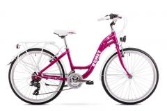 Dviratis Romet Panda Alu 24 2019 dark pink Paauglių dviračiai
