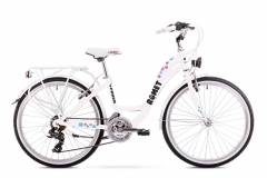 Dviratis Romet Panda Alu 24 2019 white Paauglių dviračiai