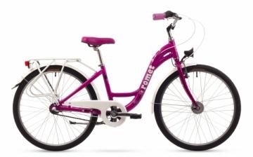 Dviratis Romet Panda Alu 24 Lux Alu 2016 pink Teens bikes