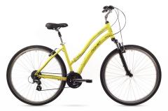 Velosipēds Romet Perlle 2016 28 yellow Hibrīdu (Cross) velosipēdi