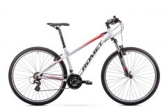 Dviratis Romet Rambler R9.0 2019 silver-red M(17) 29er dviračiai