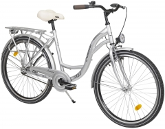 Dviratis Romet Samanta 26 1-speed silver City bikes