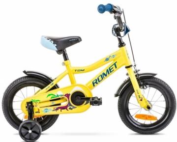 Velosipēds Romet Tom 12 2021 yellow-blue