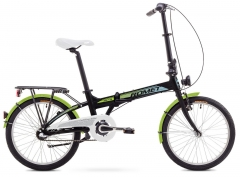 Dviratis Romet Wigry 3 2018 black-green Folding bikes