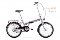 Dviratis Romet Wigry 3 2019 silver-red Sulankstomi dviračiai
