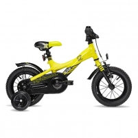 Dviratis Scool XXlite alloy 1 speed- yellow/black matt 12 Bikes for kids