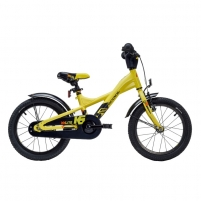 Velosipēds Scool XXlite alloy 1 speed- yellow/black matt 16 Velosipēdi bērniem