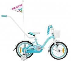 Dviratis SCORE Nana 14 blue-white Bikes for kids