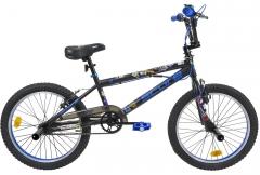 Velosipēds SCORE Stickerbomb BMX black-blue Velosipēdi bērniem