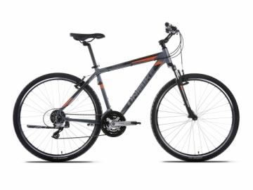 Dviratis UNIBIKE Flash GTS 2017 graphite-orange -19 Hibridiniai (Cross) dviračiai