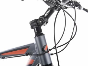 Dviratis UNIBIKE Flash GTS 2017 graphite-orange -21 Hybrid (cross) bikes