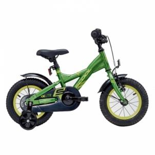 Dviratis XXlite steel 1 speed- green/yellow 12 Dviračiai, triračiai vaikams