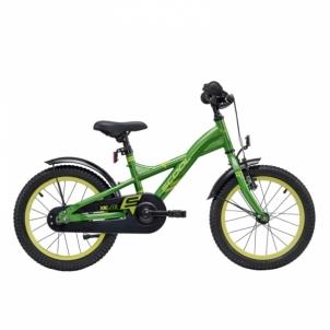 Velosipēds XXlite steel 1 speed- green/yellow 16 Velosipēdi bērniem