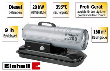 Dyzelinis šildytuvas Einhell DHG 200