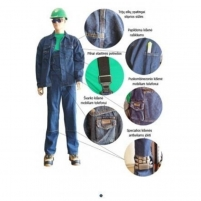 Džinsinis darbo kostiumas DK2KDZ Darba tērpi