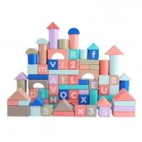 Edukaciniai blokeliai, 100 vnt. Kaladėlės ir statybos žaislai
