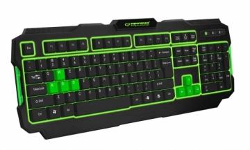 EGK202G ESPERANZA SHADOW - Žaidimų klaviatūra / Klaviatūros su apšvietimu USB