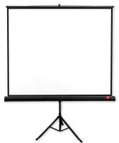 Ekranas su trikoju Avtek Tripod PRO 200x200 (1:1) Matt White, juodi rėmeliai Projektoriai