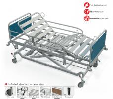 Elektrinė funkcinė lova FBE-M, F8 - ratukas su krypties užraktu