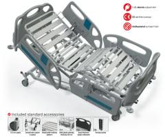 Elektrinė funkcinė lova su Trendelenburgo funkcija FBET-P, F8 - ratukas su krypties užraktu Procedūra gultām